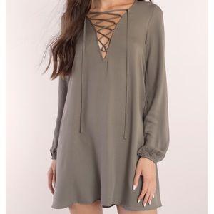 Raina Olive Shift Dress